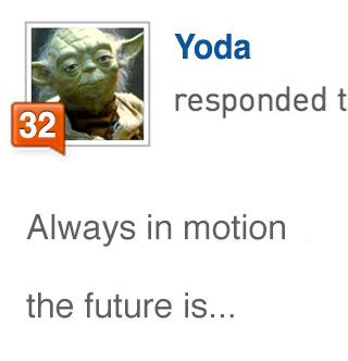 Yoda's Klout Expert score